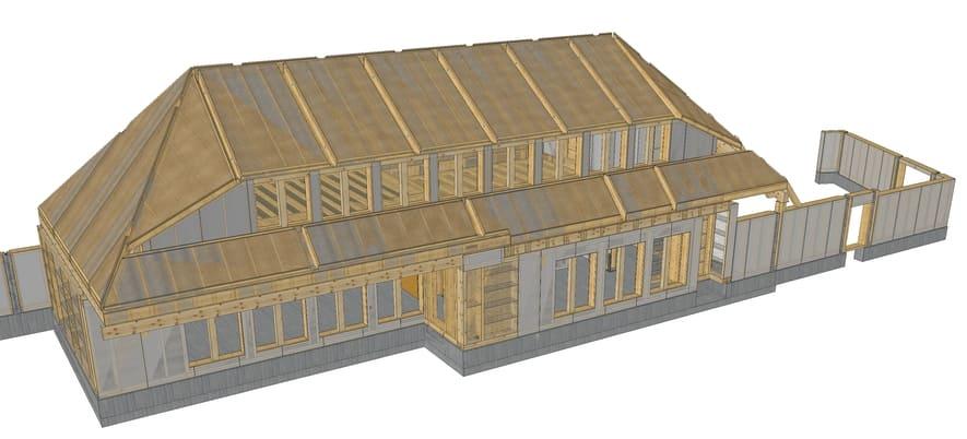 Modell Holzbau Storchennest